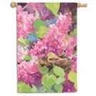 Lilacs and Finch Toland Art Banner