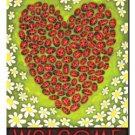 Ladybug Heart Toland Art Banner