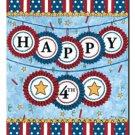 Happy Fourth Toland Art Banner