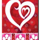Heart and Flowers Toland Art Banner