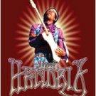 Jimi Hendrix Textile Poster (Red)