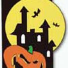 Haunted House with Pumpkin Decorative Banner