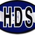Honduras Wavy Oval Decal