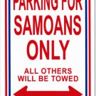 Samoa Parking Sign