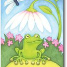 Little Green Frog Toland Art Banner