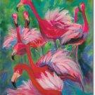 Flamingo Fancy Toland Art Banner