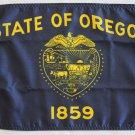 "Oregon - 12""""X18"""" Nylon Flag (Single-Reverse)"
