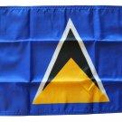 """St. Lucia - 12""""""""X18"""""""" Nylon Flag"""