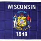 Wisconsin - 3'X5' Polyester Flag