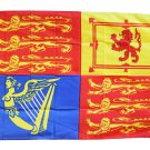 Royal Standard of the United Kingdom - 3'X5' Polyester Flag