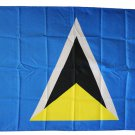 St. Lucia - 3'X5' Polyester Flag