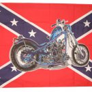Motorcycle/Confederate - 3'X5' Polyester Flag