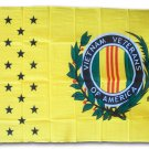 Vietnam Veterans - 3'X5' Polyester Flag (Yellow)