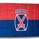 10th Mountain Division - 3'X5' Polyester Flag