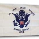 Coast Guard Retired - 3'x5' Polyester Flag