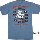 Pirates: Terrors of the Seas Blue Cotton T-Shirt (XL)