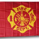 Fire Department - 3'X5' Polyester Flag