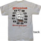Pirates: Terrors of the Seas Grey Cotton T-Shirt (S)