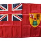 "Turks and Caicos - 12""""X18"""" Nylon Flag (Red Ensign)"