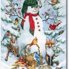 Woodland Snowman Toland Art Banner