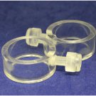 "Mounting Rings (clear)- Stationary (for 1"""" pole)"