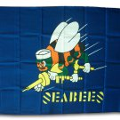 Seabees - 3'X5' Polyester Flag (Blue)
