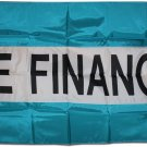 We Finance - 3'X5' Nylon Flag (Teal/White/Teal)