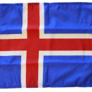 "Iceland - 12""""X18"""" Nylon Flag"