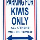 "New Zealand - 8"""" x 12"""" Metal Parking Sign"