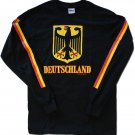Germany (Black) - Long Sleeved Cotton T-Shirt (S)