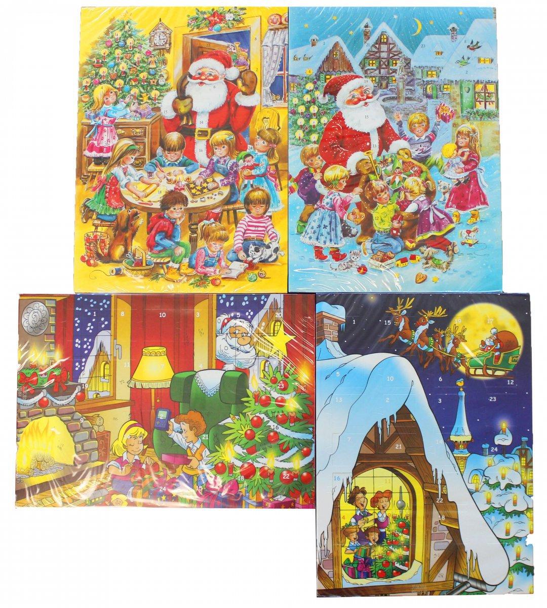 Schokoladen Weihnachtskalender.Chocolate Advents Calendar Schokoladen Adventskalender Pack Of 4