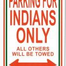 """India - 8""""""""x12"""""""" Metal Parking Sign"""