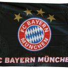 FC Bayern Muenchen (Black with Logo) - 3'x5' Polyester Flag