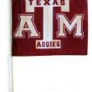 Texas A&M (Aggies bottom) Car Flag
