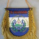 El Salvador Window Hanging Flag (Shield)