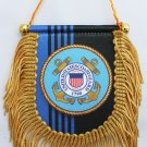 Coast Guard Window Hanging Flag (Shield)