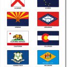 US States and Territories (60 Count) Sticker Pack
