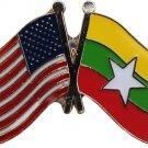 Myanmar (Burma) Friendship Lapel Pin