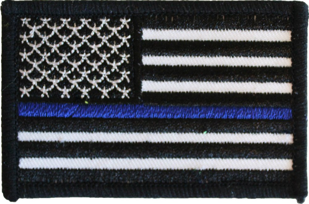 Thin Blue Line (USA) Rectangular Patch