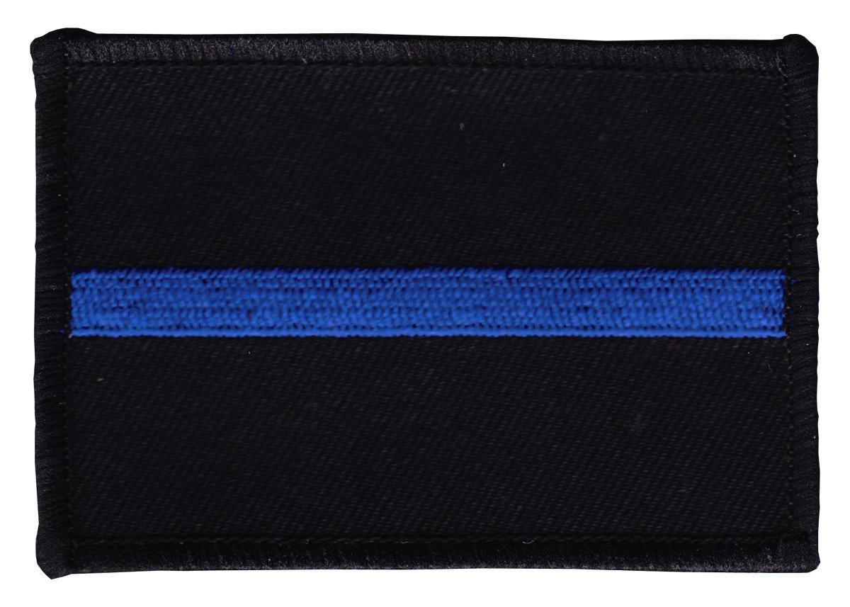 Thin Blue Line (Black/Blue/Black) Rectangular Patch