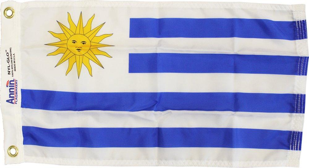 "Uruguay - 12""X18"" Nylon Flag"