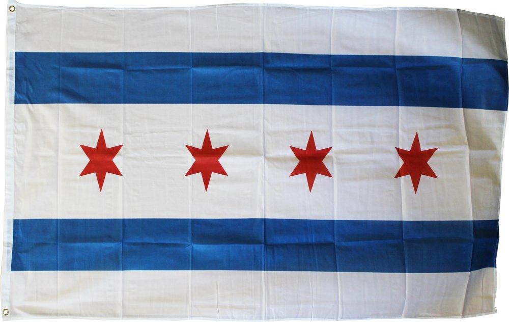 Chicago - 3'X5' Polyester Flag