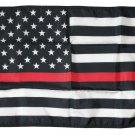 """Thin Red Line - 12""""X18"""" Nylon Flag"""