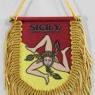Sicily Window Hanging Flag (Shield)