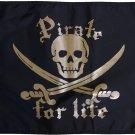 "Pirate for Life (Gold) - 12""X18"" Nylon Flag"