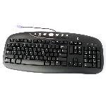 Logitech Internet Pro Black PS/2 Port Desktop PC Keyboard