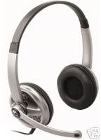 Logitech Premium Stereo Skype/VoIP PC Headset w/mic+vol