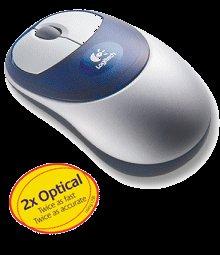 Logitech CORDLESS 2x OPTICAL Wireless Mouse PC & MAC