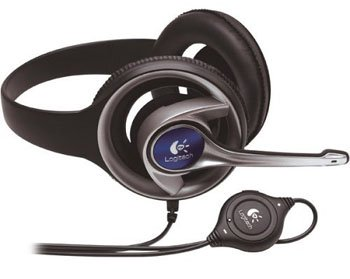 Logitech Precision PC Gaming Stereo Headset behind-neck