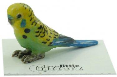 "Little Critterz - ""Mojito"" Green Parakeet - LC846"